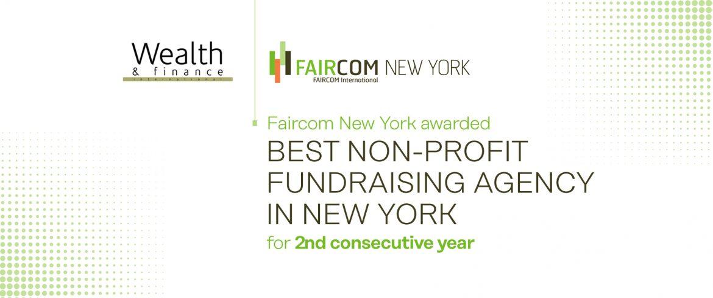 Faircom New York Named BEST NON-PROFIT FUNDRAISING AGENCY !