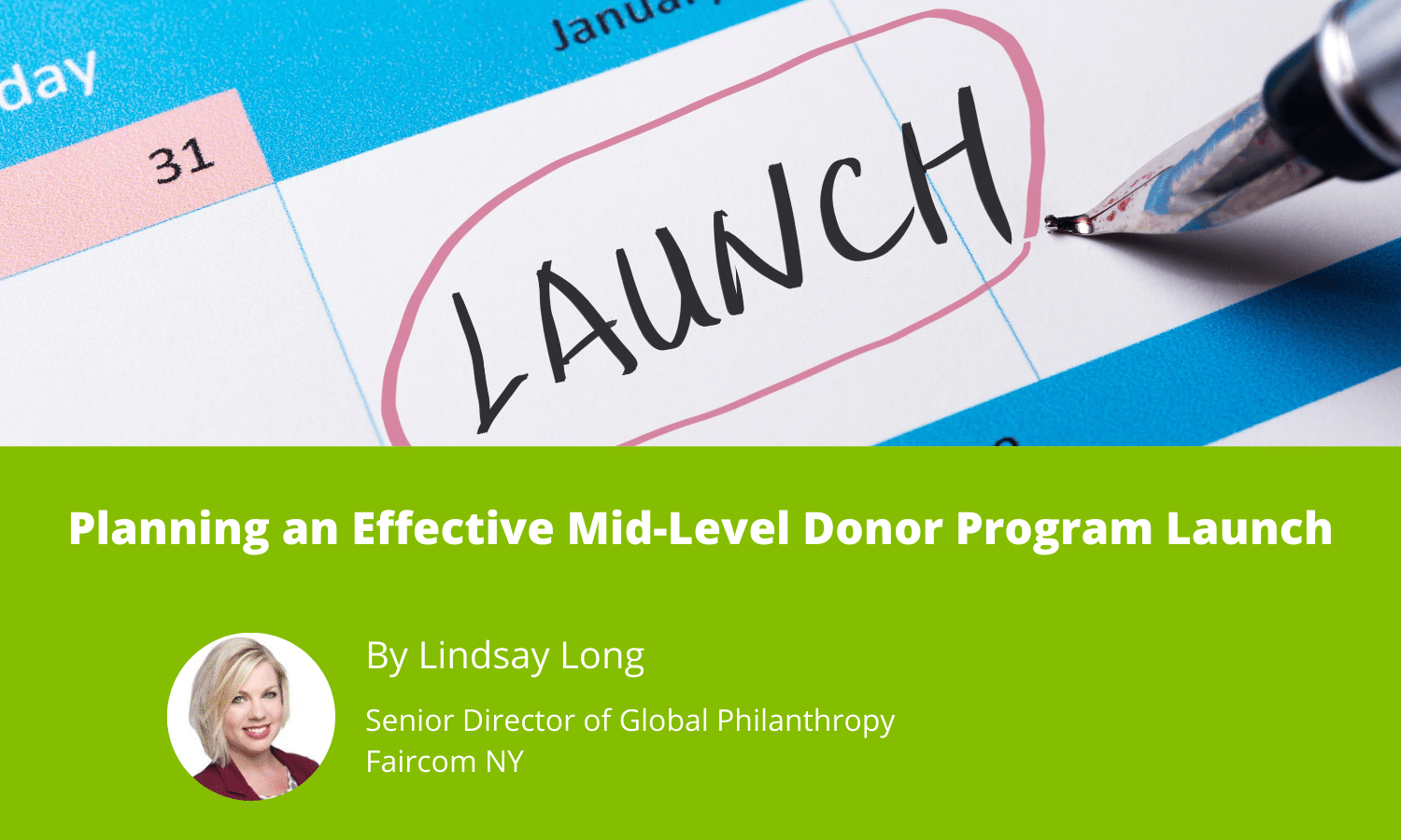 Planning an Effective Mid-Level Donor Program Launch