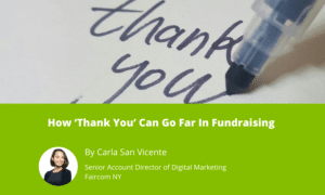 How 'Thank You' Can Go Far In Fundraising