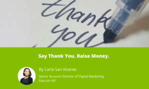 Say Thank You. Raise Money.