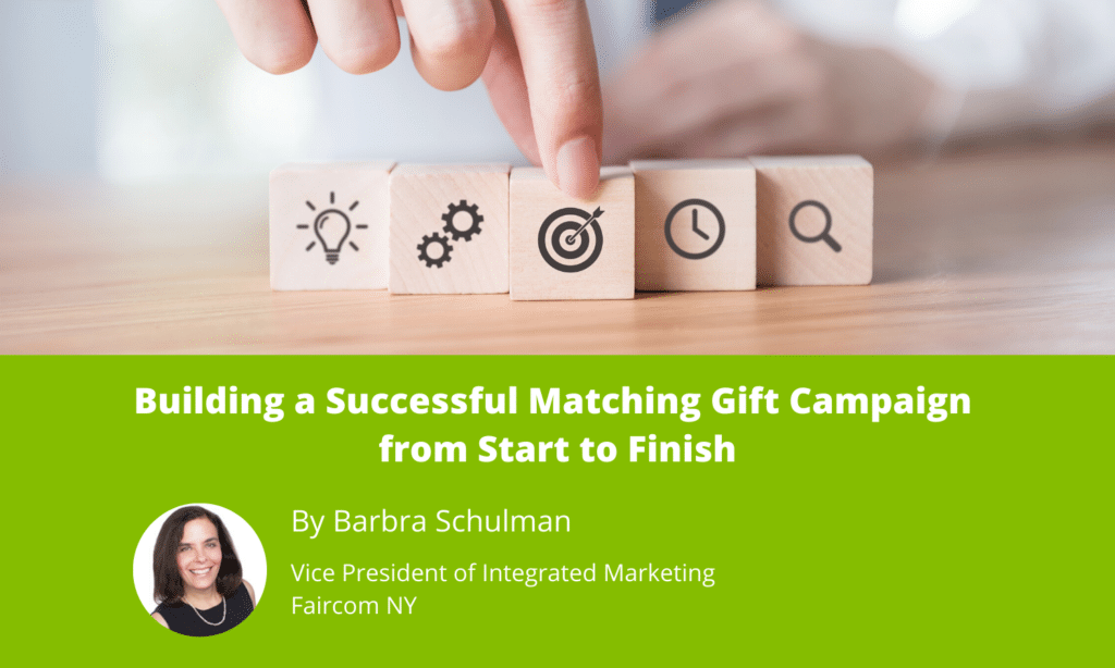 Building a Successful Matching Gift Campaign from Start to Finish