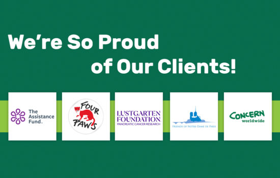We're so proud of our clients